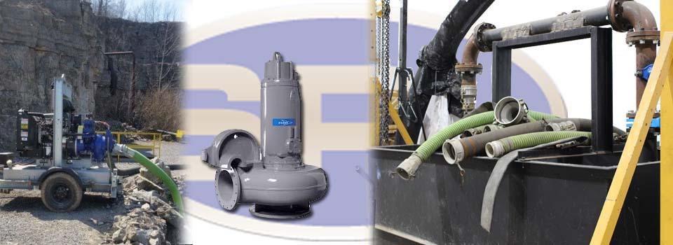aggregate & submersible pumps & flow test tank